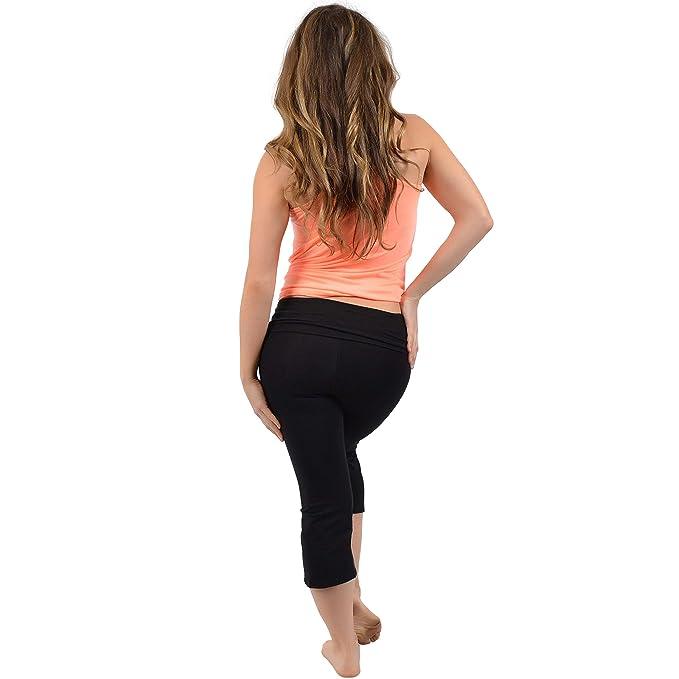 Amazon.com: Stretch es la comodidad mujer Capri Yoga ...