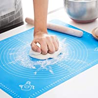 Silicone Baking Mat for Pastry Rolling with Measurements, Liner Heat Resistance Table Placemat Pad Pastry Board, Reusable Non-Stick Silicone Baking Mat