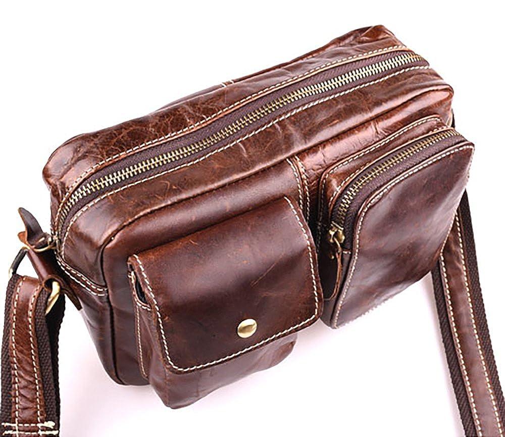 Beuniclo Mens Messenger Bag Men Crossbody Bag Genuine Leather Bag