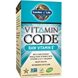 Garden of Life Vitamin E - Vitamin Code Raw E Vitamin 250 IU Whole Food Supplement with A, D, K and Selenium, Vegetarian, 60 Capsules