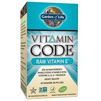 garden of life vitamin e vitamin code raw e vitamin 250 iu whole food supplement