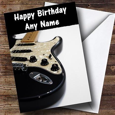 Guitarra eléctrica personalizado tarjeta de cumpleaños