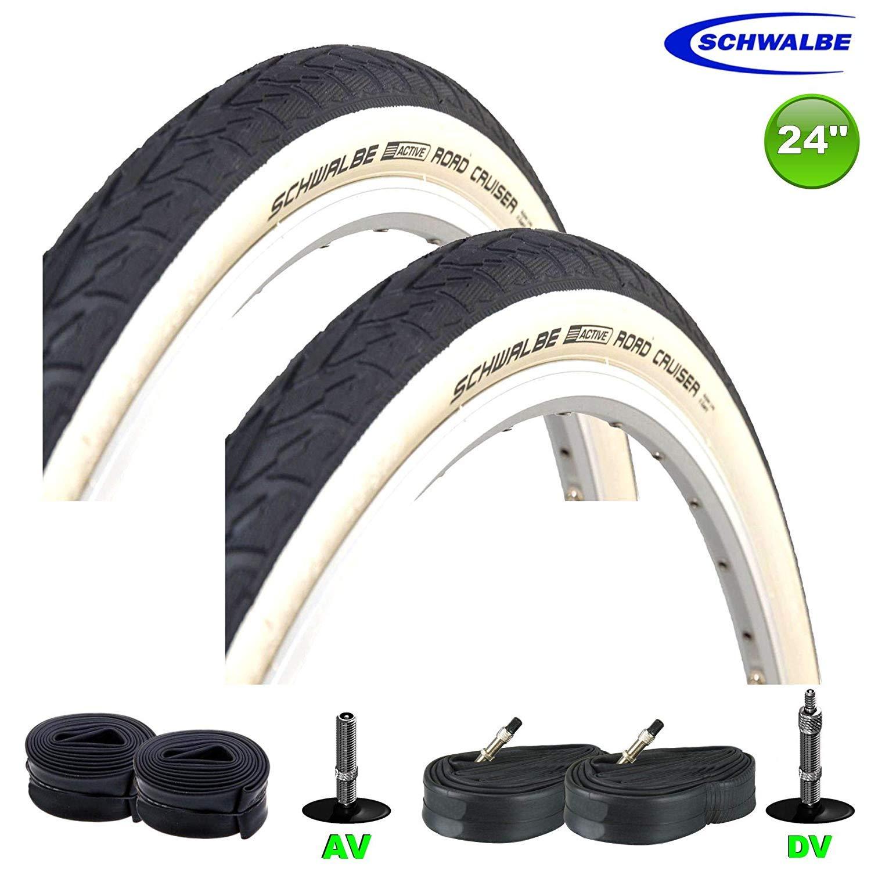 Mountain Bike 24x1.75 Black Bicycle Tires 2x Cruiser