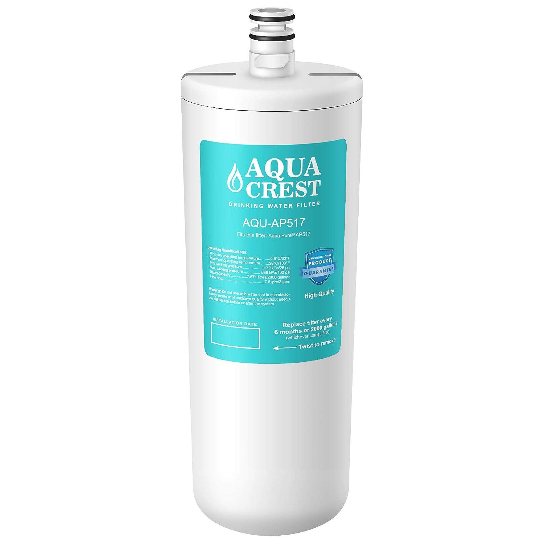 AQUACREST Replacement AP517 Under Sink Water Filter, Compatible with Aqua-Pure AP517, AP51711, AP510, AP517EA