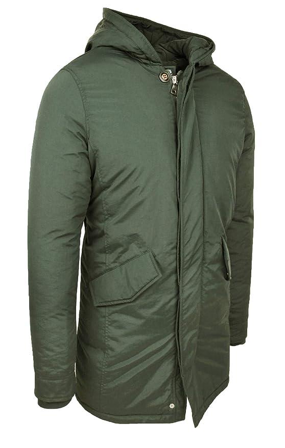 cbc55740a2bb6 Evoga Parka Uomo Invernale Verde Cappotto Giacca Slim Fit Impermeabile   Amazon.it  Abbigliamento