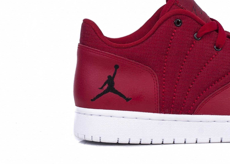 hot sales 91340 0fef7 Nike Jordan 1 Flight 4 Low, Chaussures spécial Basket-Ball pour Homme Rouge  45  Amazon.fr  Chaussures et Sacs