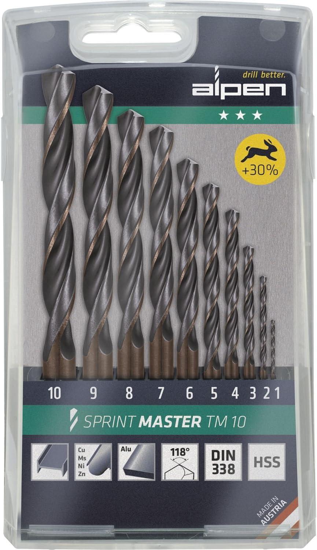 ALPEN 9083805 Estuche Brocas Hss Sprint Master 10 Piezas, 0 W, 0 V, Set: Amazon.es: Bricolaje y herramientas