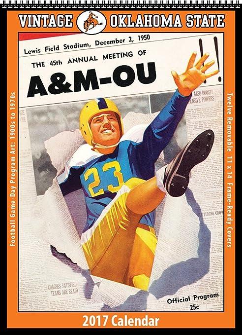 Amazon Com Oklahoma State Cowboys 2017 Vintage Football Calendar
