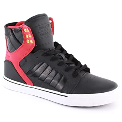 d9749f8de88 Supra Skytop Black Red Mens Trainers Size 9 UK: Amazon.co.uk: Shoes & Bags