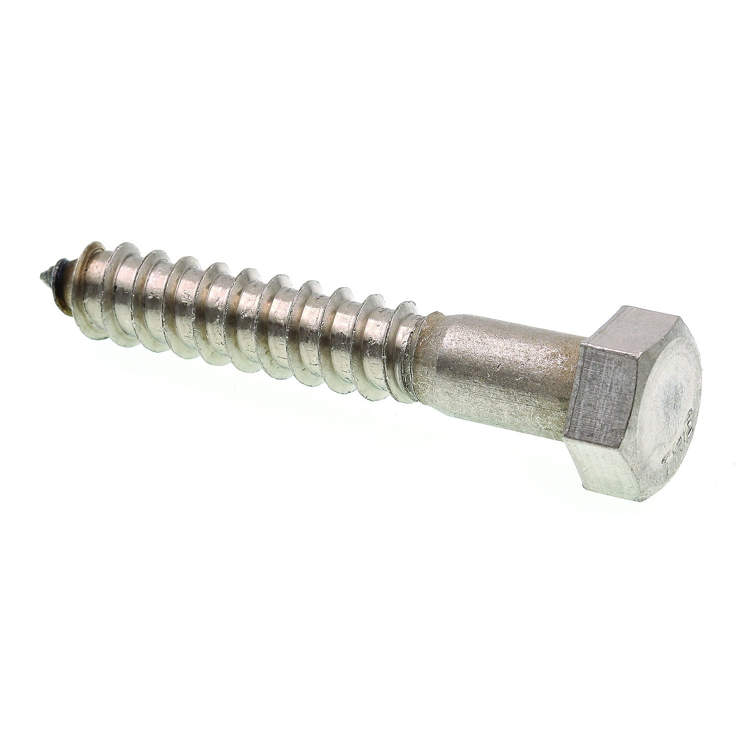 Prime-Line 9056864 Lag Screw Bolt, Hex Head, 1/2 in X 3 in, Grade 18-8 Stainless Steel, Pack of 15 by Prime-Line Products