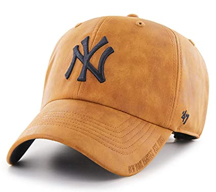 1c6921a47b1  47 Mens New York Yankees Tannery Press Clean Up Baseball Cap Hat (Light  Brown