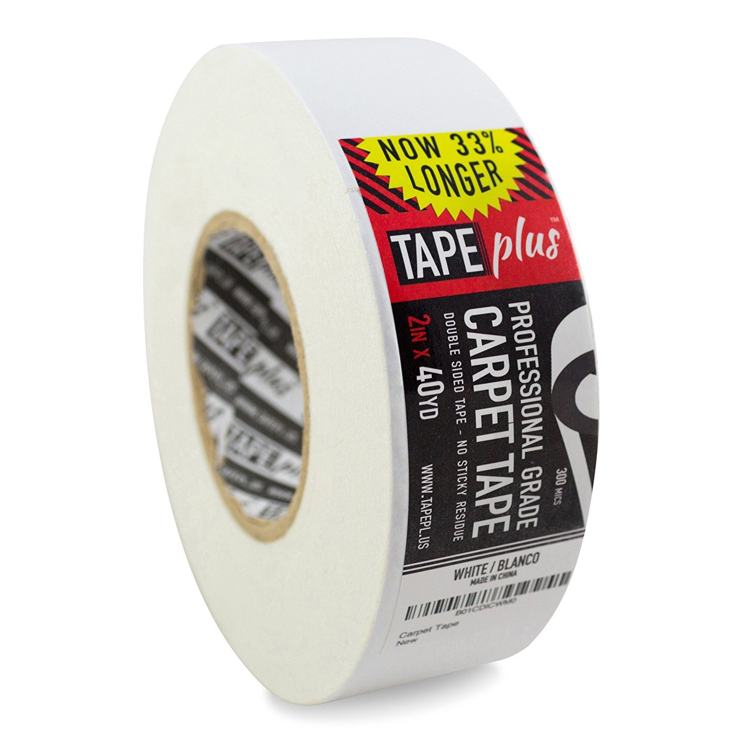 TapePlus 2 Inch by 40 Yards Double Sided Non-Slip Adhesive Carpet Tape, White FBA_carpet-tape