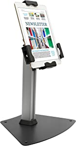 Kantek Tablet Kiosk Stand with Security Locking System, Table Mounted, for 7.9-10.1 Inch Tablets (TS950)