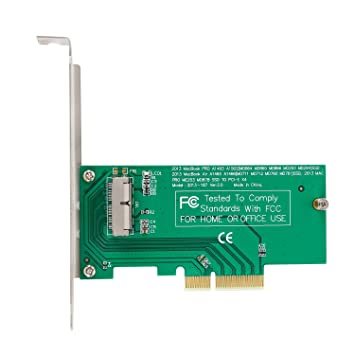 PCI-E x4 M.2 NGFF to SSD Adapter Card for Apple MacBook Air A1465 A1466 A1398 A1