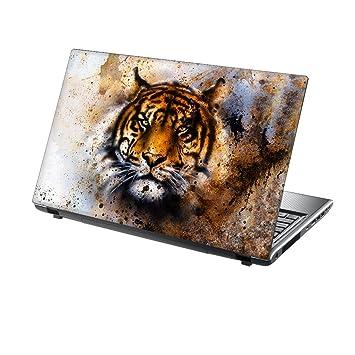 TaylorHe - Adhesivo de vinilo para ordenador portátil de 15,6 pulgadas con patrones coloridos y efecto piel laminado fabricado en Italia Tiger Colour ...