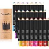 Soucolor 72-Color Colored Pencils, Soft Core, Art Coloring Drawing Pencils for Adult Coloring Book, Sketch,Crafting…