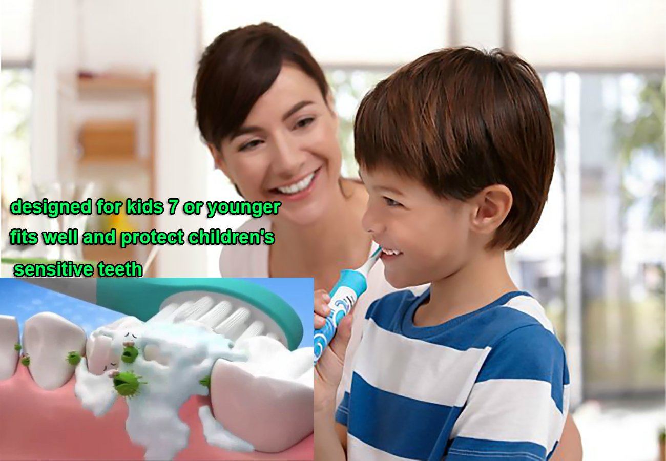 Kids Electric Toothbrush Replacement Heads for Sonicare For Kids 2-7 Years Old Fits HX6311/07 HX6311/02 by DA BENBEN (Image #3)