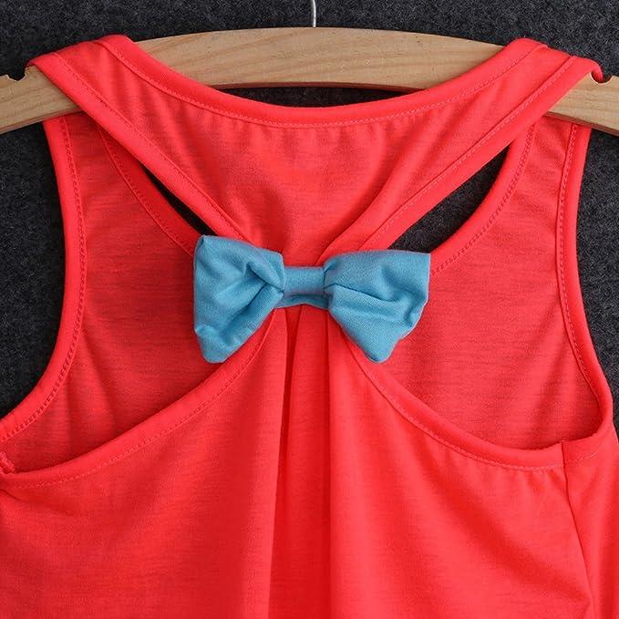 47559dce9c86 Amazon.com  Juicart Girls Kids Anchor Vest Sleeveless Summer Clothes Cotton  Tank Tops Bowknot T-Shirt (10-11years)  Sports   Outdoors