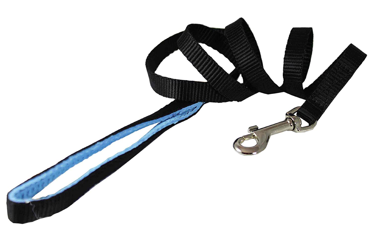 Dog Leash 1 2 Wide Nylon 4ft Length with Padded Handle nero Small by Dogs My Love