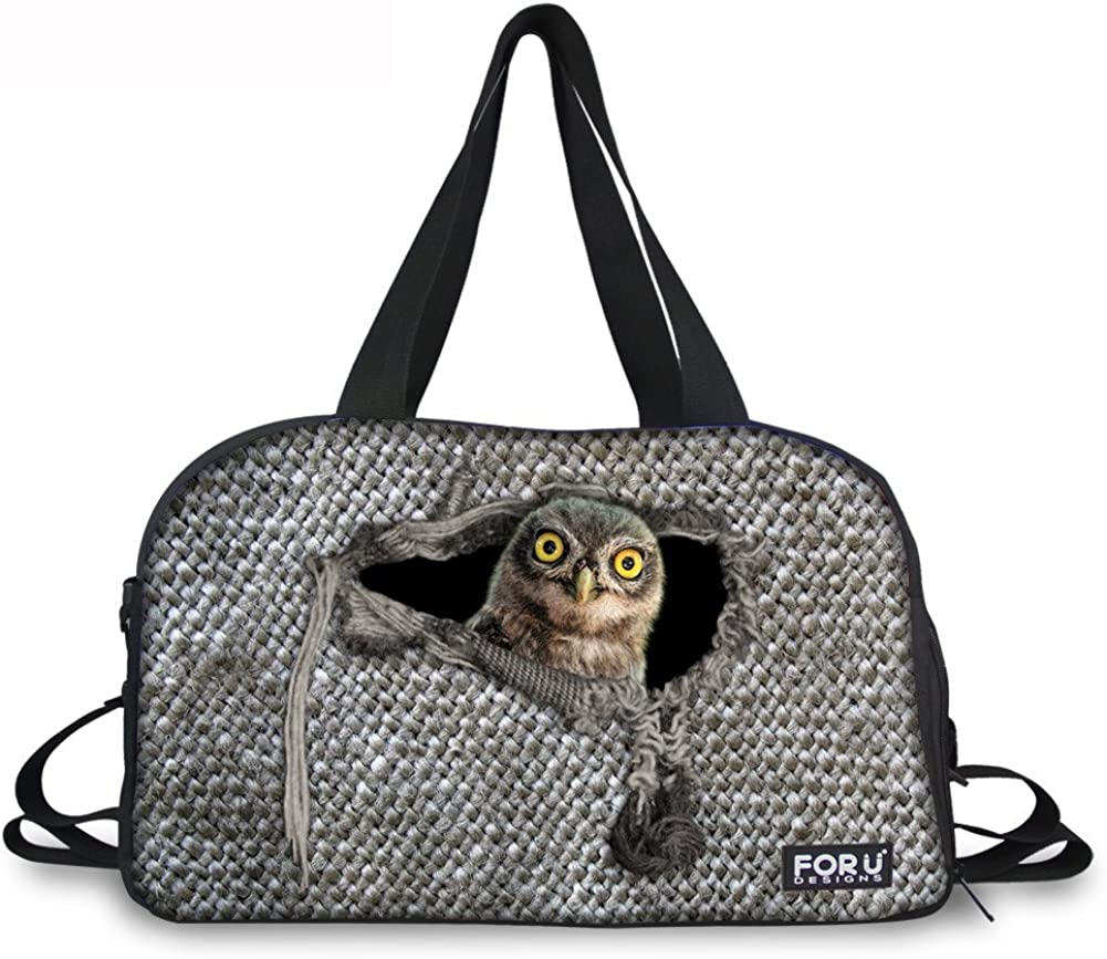 Mumeson Animal Broken Sack Print Athletic Duffel Gym Sport Bag with Shoes Compartment