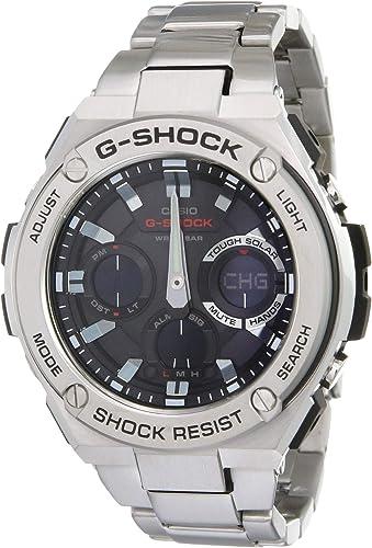 Amazon.com: Casio Men's G SHOCK Quartz Watch with Stainless-Steel Strap,  Silver, 25.85 (Model: GST-S110D-1ADR (G604): Casio: Watches
