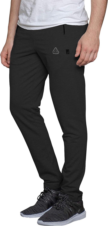 SCR SPORTSWEAR Mens Soccer Track Training Pants Athletic Sweatpants with Zipper Pockets Black Heather Grey Short Long Inseam 31W x 33L, Dark Grey-K536