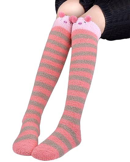 3ed72225c6233 Amazon.com: Fascigirl Over the Knee Socks Leg Warmers Thigh High Fuzzy Socks  for Girls: Clothing