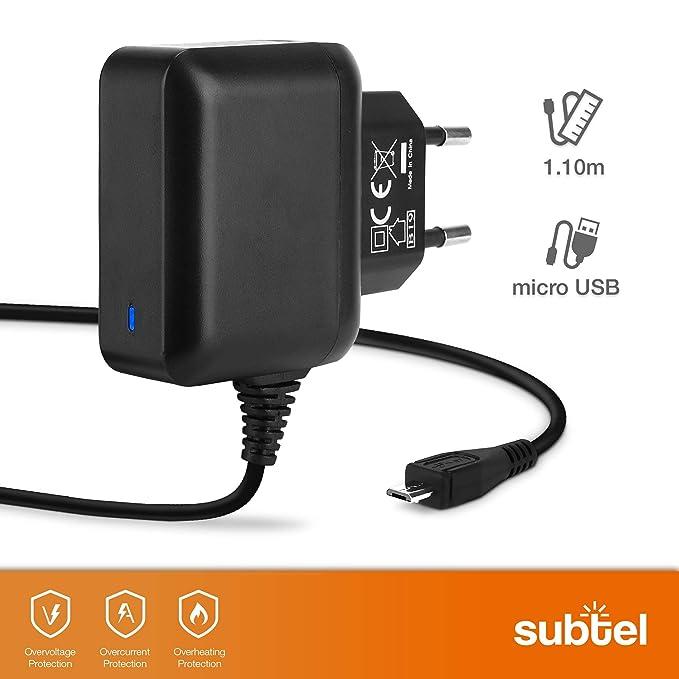 subtel® Cargador - 1.2m (2.5A / 2500mA) Compatible con Chuwi ...