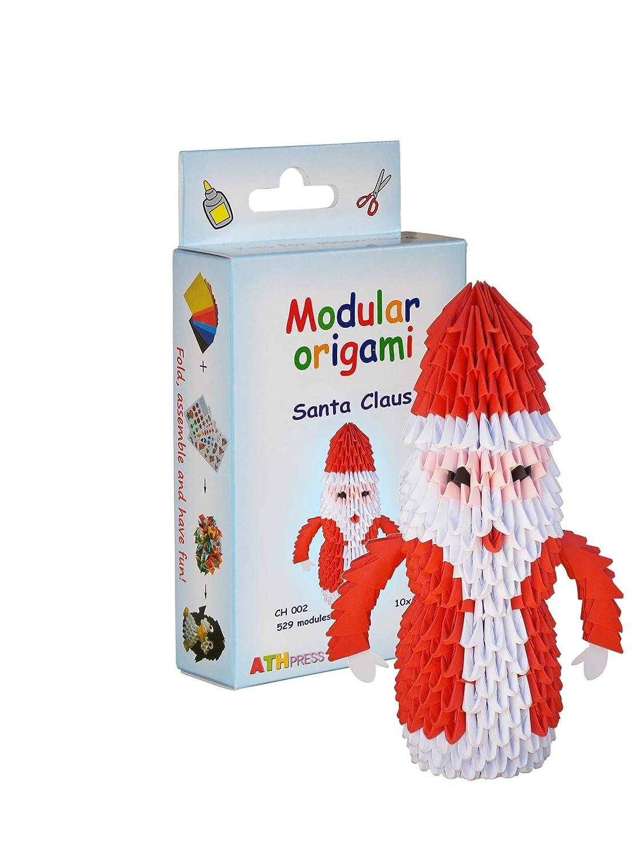 Modular Origami crfq0_ 60Kit 529Pezzi Babbo Natale Origami–Kits, Trasparente, 16x 9x 3cm CH002