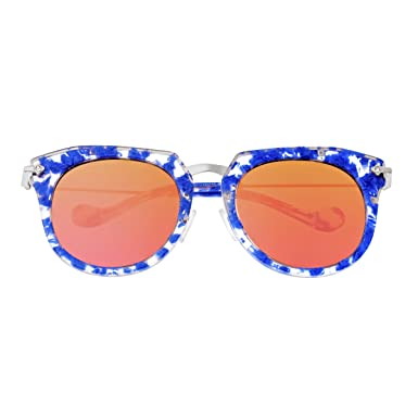 ef501c43f3 Bertha Aaliyah Women s Polarized Sunglasses - Blue Tortoise Rose Gold