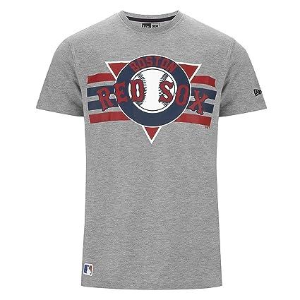 add5d493a1d48 A NEW ERA Boston Red Sox Stripes Béisbol MLB – Camiseta Gris Boston Red Sox  -