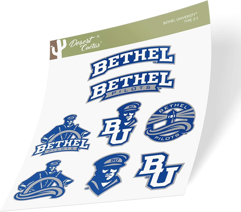 Type 2 Sheet Bethel University NCAA Sticker Vinyl Decal Laptop Water Bottle Car Scrapbook