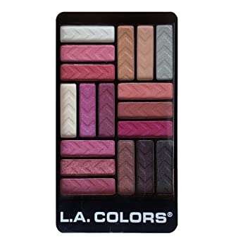 Amazon.com : L.A. Colors 18 Color Glam Palette Eyeshadow, Diva ...