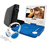 "SYLVANIA SDVD7060-COMBO-BLUE 7"""" Swivel-Screen Portable DVD Player Bundle (Blue)"