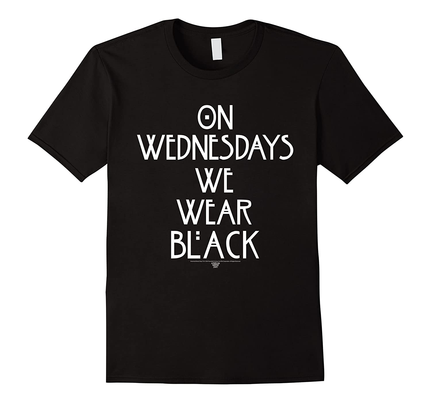 American Horror Story On Wednesdays Version 3-T-Shirt