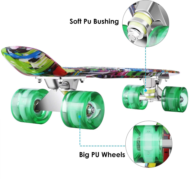 WeSkate Complete Mini Cruiser Skateboard - 1