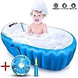ベビーバス 折りたたみ 新生児~3歳頃まで 赤ちゃんお風呂 ふかふか ベビーバスタブ 空気入れポンプ付き