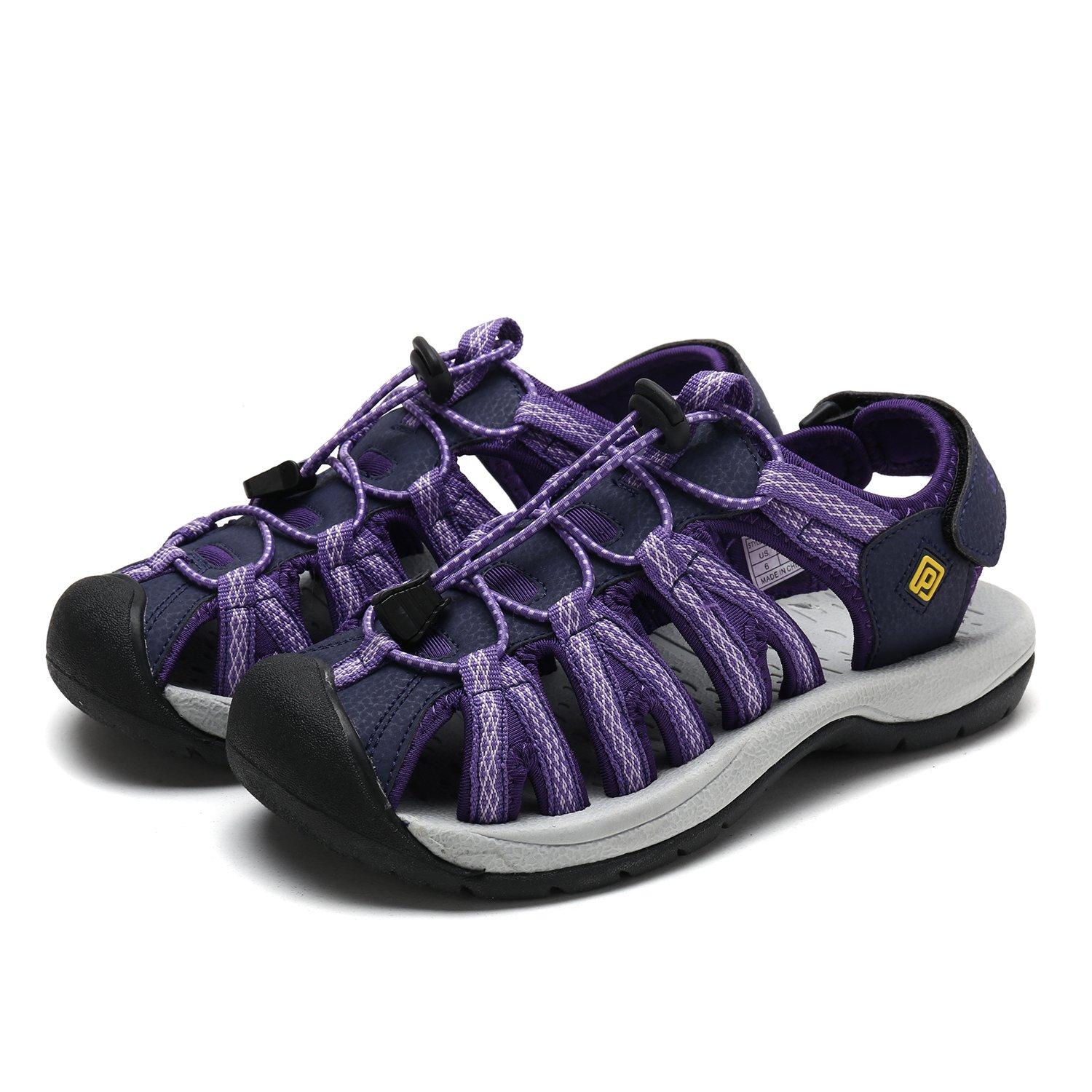 DREAM PAIRS Women's 160912-W Adventurous Summer Outdoor Sandals B077GBSJ95 7 B(M) US|Purple