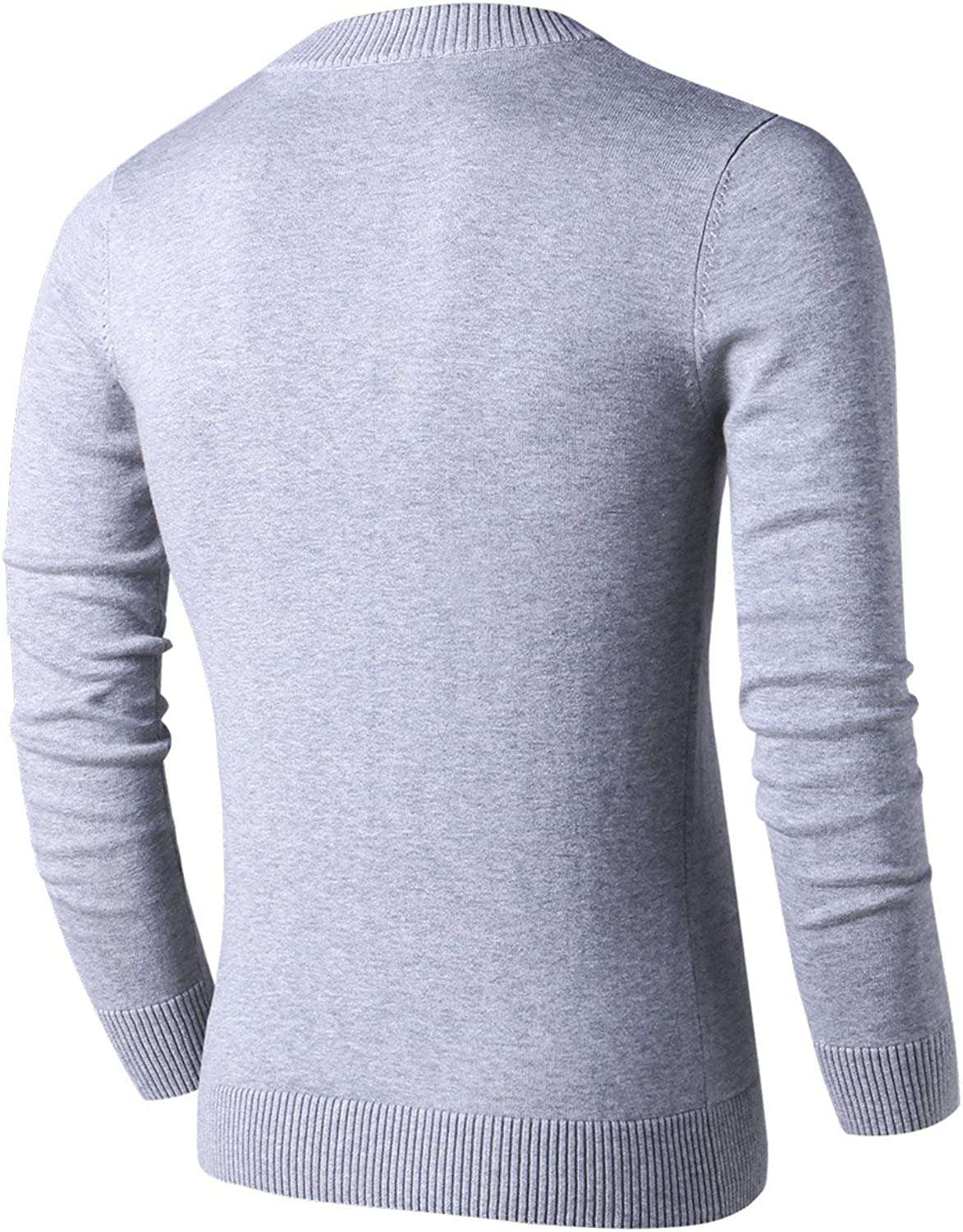 LTIFONE Sweaters for Men,V Neck Slim Comfortably,Knitted Long Sleeve
