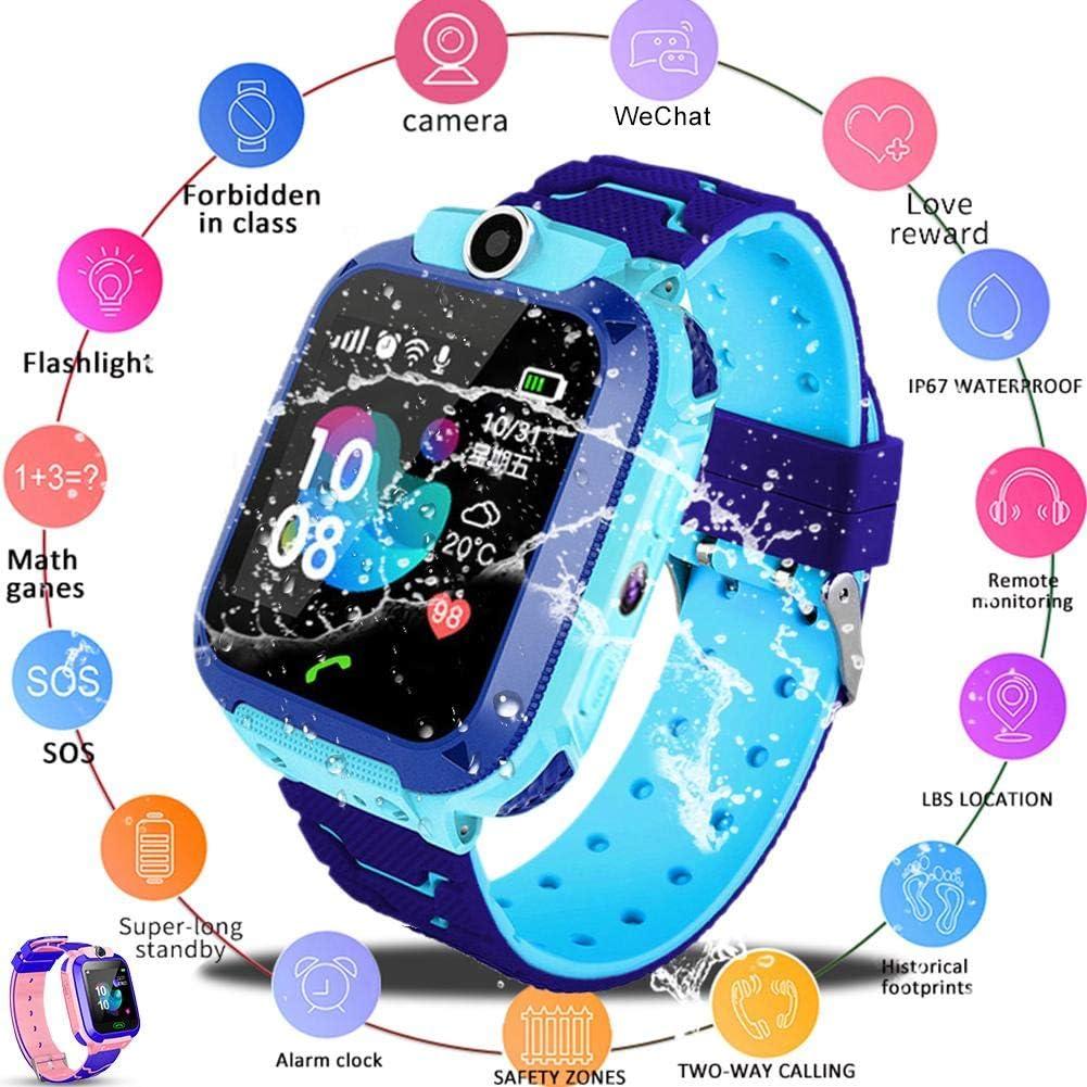 Reloj Inteligente para Niños Localizador GPS Cámara Q12B Pulsera Inteligente para Niños, GPS Tracker gsm Sim Pantalla Táctil Soporte SOS Call Voice Chatting Activity Tracker