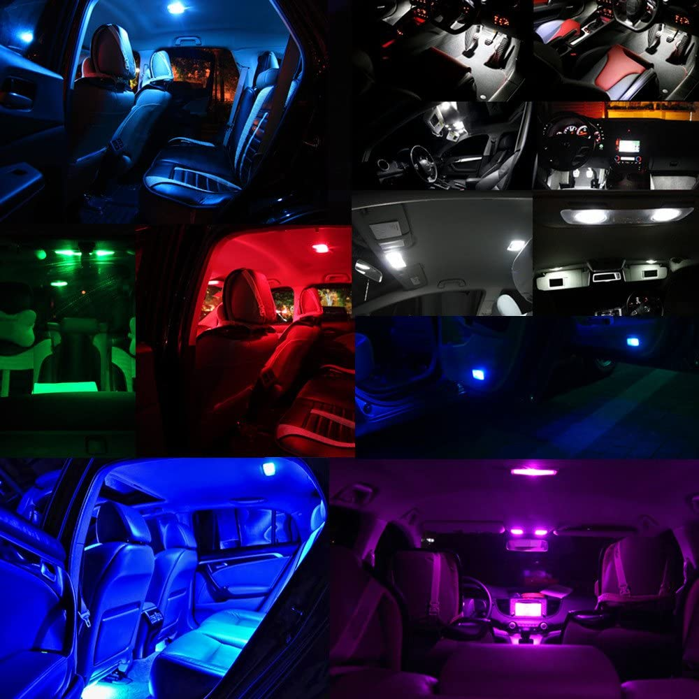 WLJH 10x Pink T10 lED Light Bulb 8-SMD 1206 Chipsets Extremely Bright 168 194 LED Bulbs Instrument Panel Gauge Cluster Dashboard with 10x Twist Lock Socket