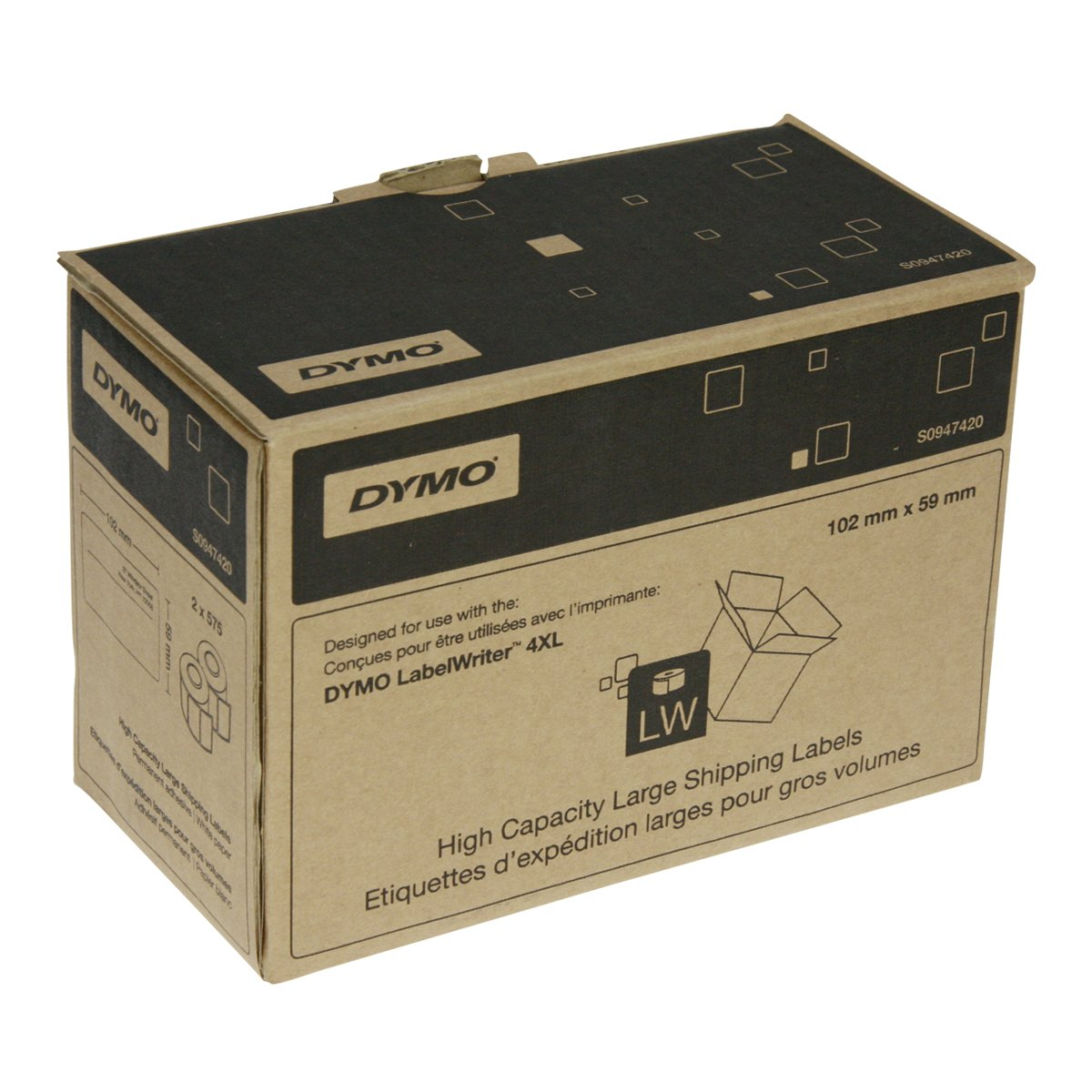 Dymo S0947420 LabelWriter 4XL High Capacity Large Shipping Labels – Large Mailing Labels