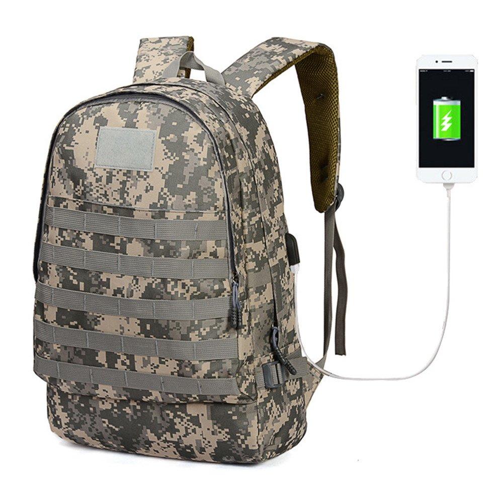 Bolso De Viaje Portátil del Ordenador Portátil Viaje del Bolso del Viaje del Camuflaje del USB Bolso Grande del Estudiante De La Capacidad 12.2  7.8  18.8Inch (31  20  48Cm),Gris cb0b6c