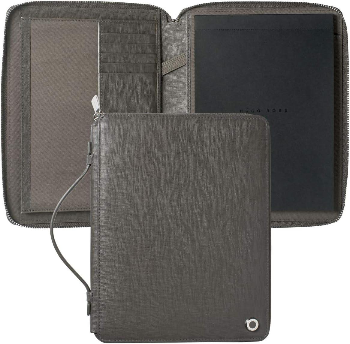 Hugo Boss hlh804h Conferencia carpeta A5 Tradición Antracita Medium gris: Amazon.es: Oficina y papelería