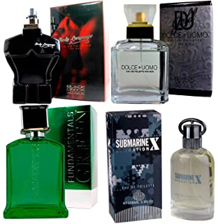 Perfumes (4) Pack Full Man para Hombre. Submarine X 100ml + Dolce Uomo
