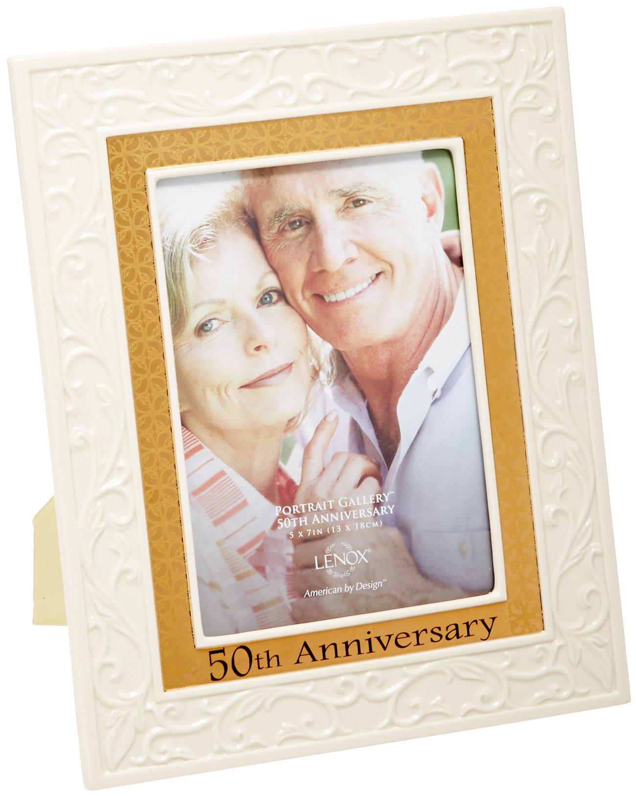 Lenox Portrait Gallery 50th Anniversary Luxury Frame, 5 by 7-Inch