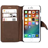 """iPhone 6 / 6s Lederhülle Leder Case Ledertasche braun - KANVASA """"Vintage"""" Premium Echtleder Hülle Tasche Flip Cover für das Original Apple iPhone 6/6s (4.7 Zoll) - Edles Wallet Case mit 4 Fächern"""