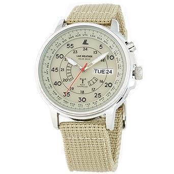 Amazon.com   LAD Weather  Solar Radio Watch Time Zone Business World Trip  Men Women Perpetual Calendar  Watches 90397fe415