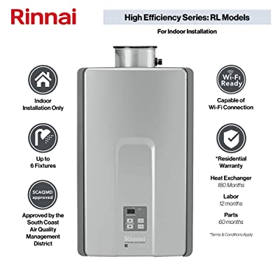 Rinnai RL Model Tankless Hot Water Heater