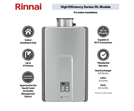 Rinnai RL Model Tankless Hot Water Heater